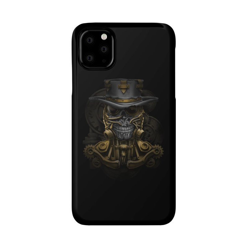 steampunk skull Accessories Phone Case by fishark's Artist Shop