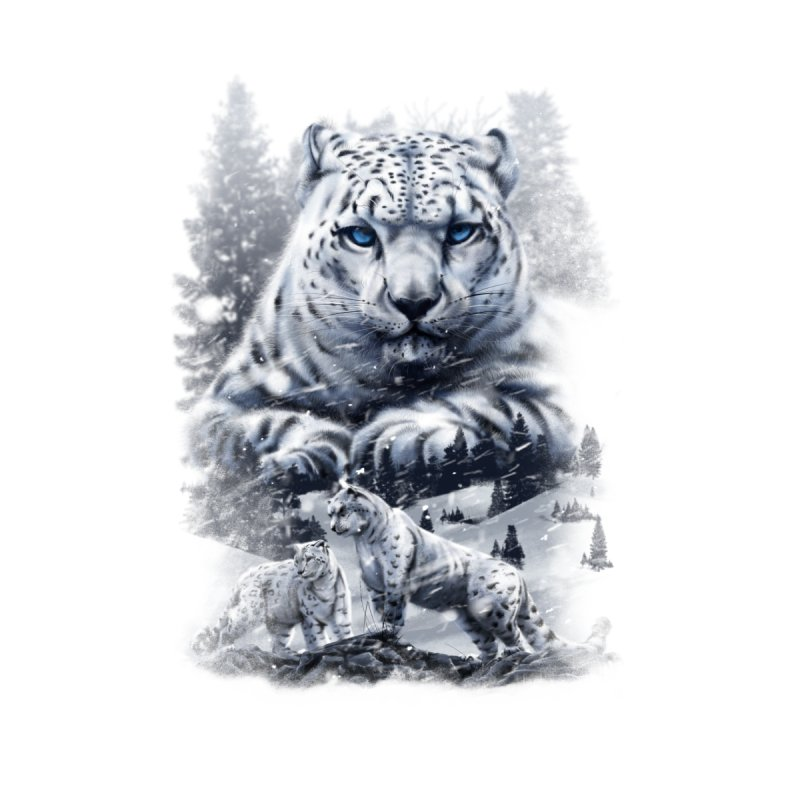 snow leopard Women's T-Shirt by fishark's Artist Shop