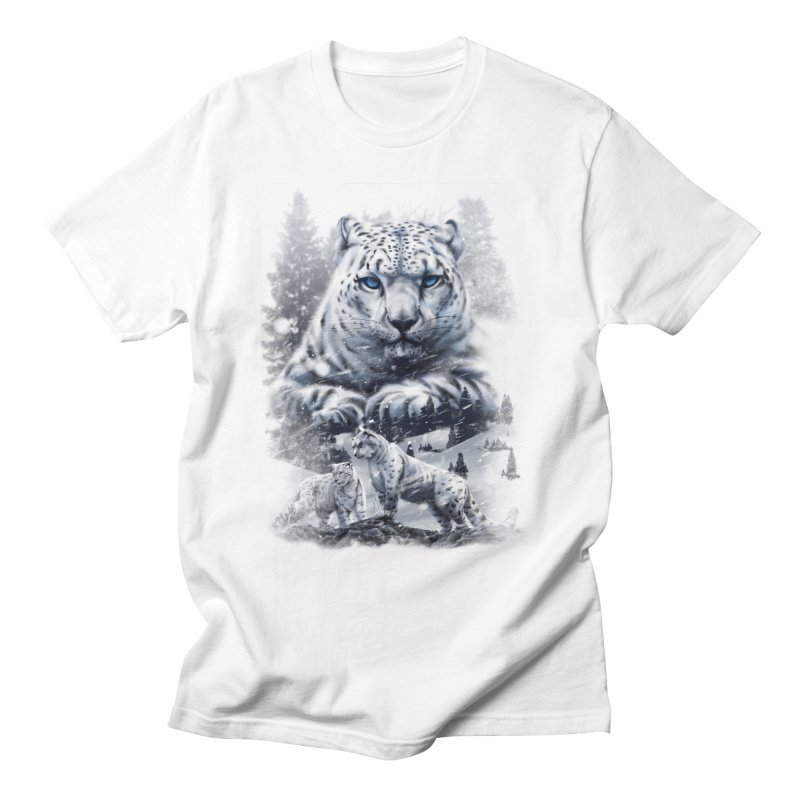 snow leopard Women's Regular Unisex T-Shirt by fishark's Artist Shop