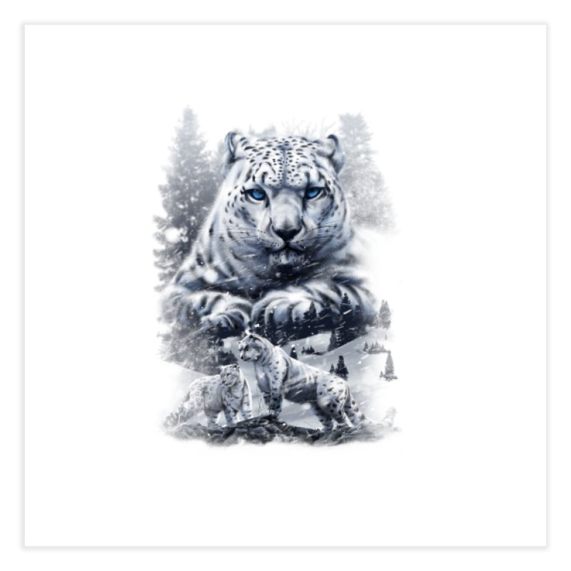 snow leopard Home Fine Art Print by fishark's Artist Shop