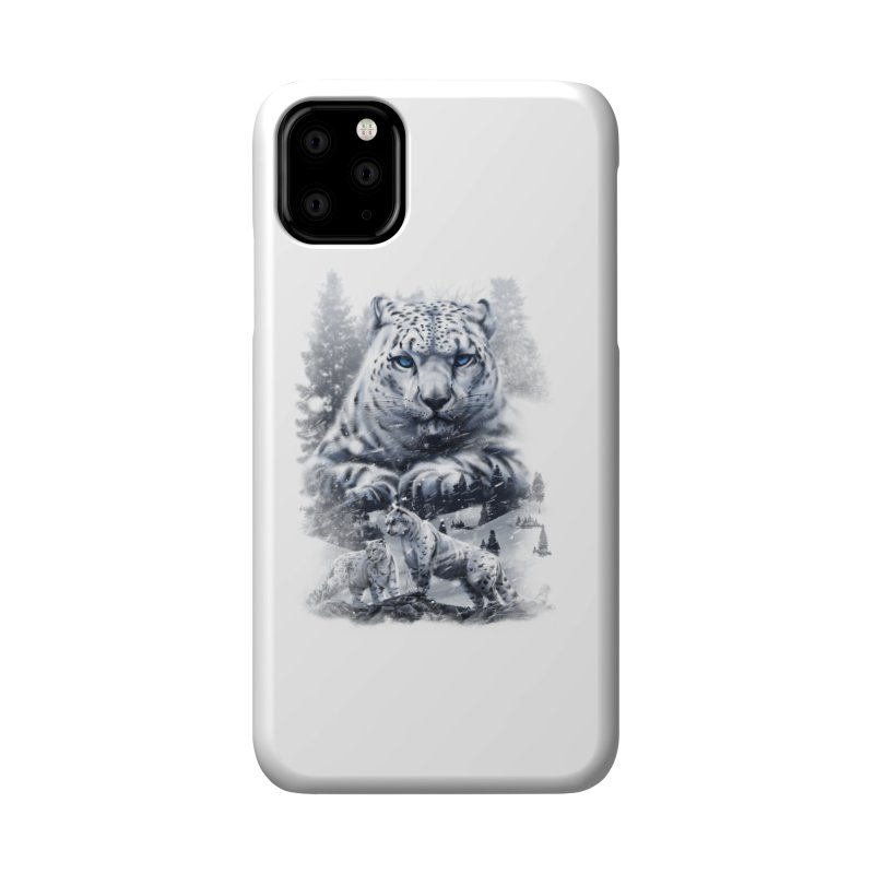 snow leopard Accessories Phone Case by fishark's Artist Shop