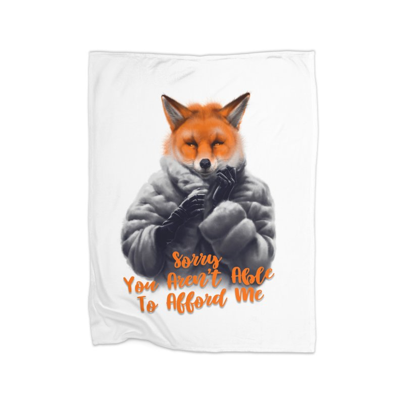 Fox Home Fleece Blanket Blanket by fishark's Artist Shop