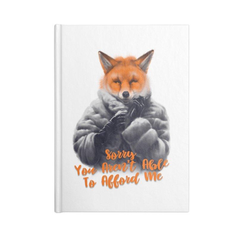 Fox Accessories Blank Journal Notebook by fishark's Artist Shop