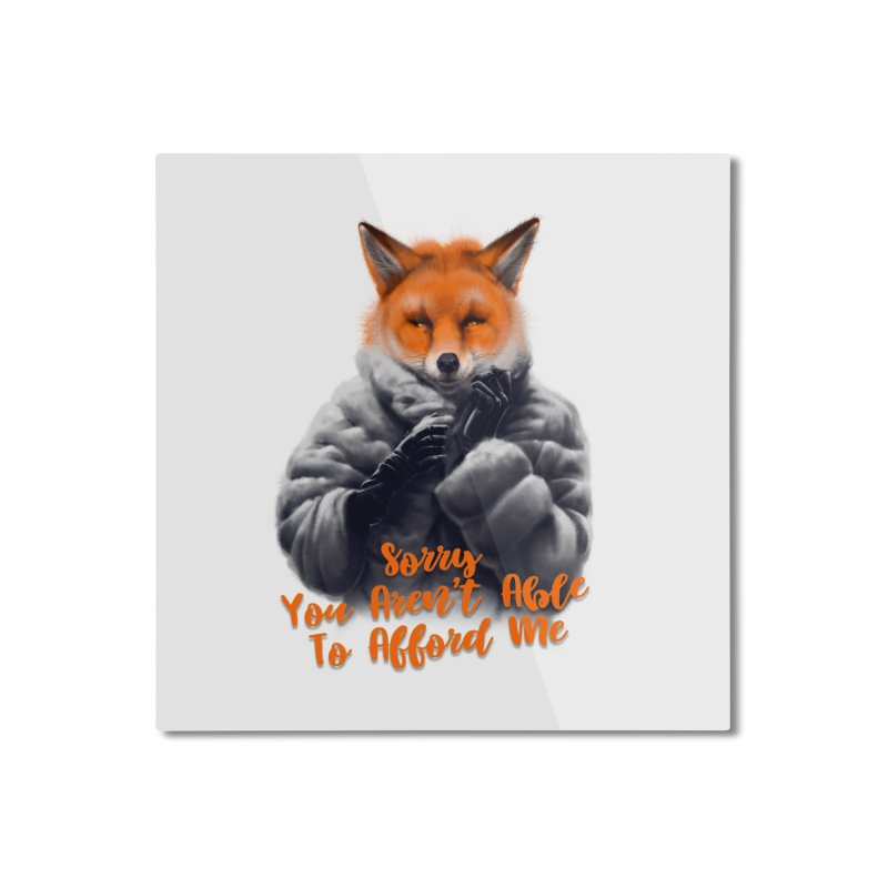Fox Home Mounted Aluminum Print by fishark's Artist Shop