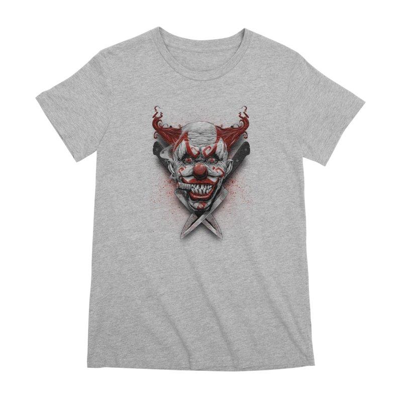 angry clown Women's Premium T-Shirt by fishark's Artist Shop