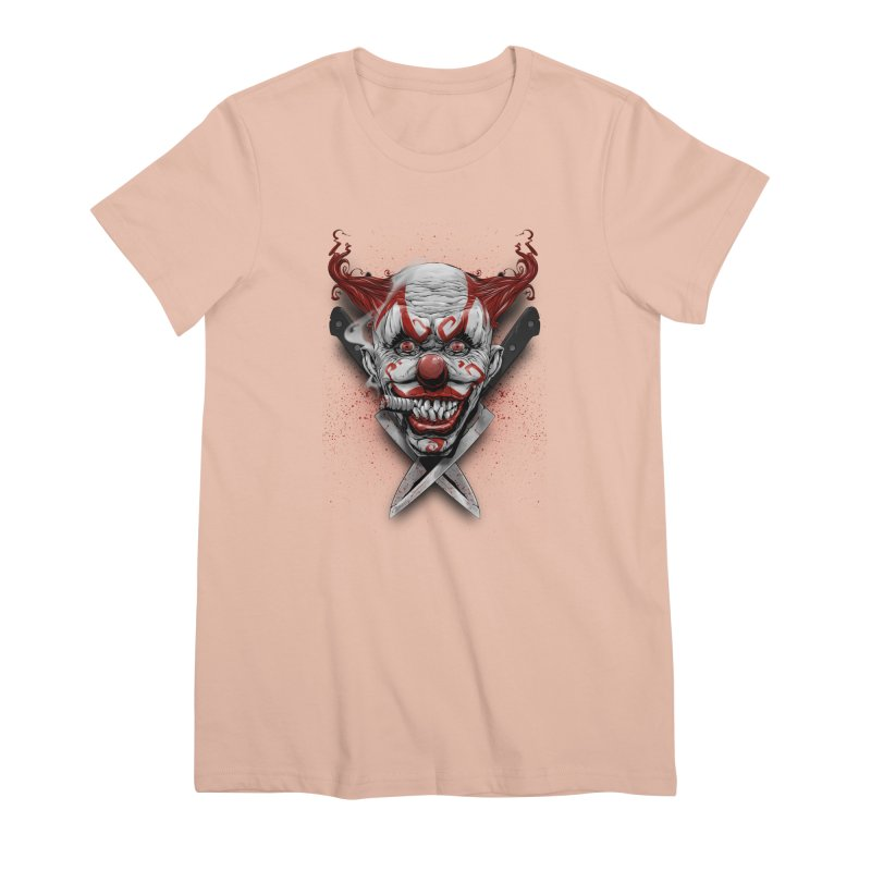 angry clown Women's Premium T-Shirt by fishark's Artist Shop