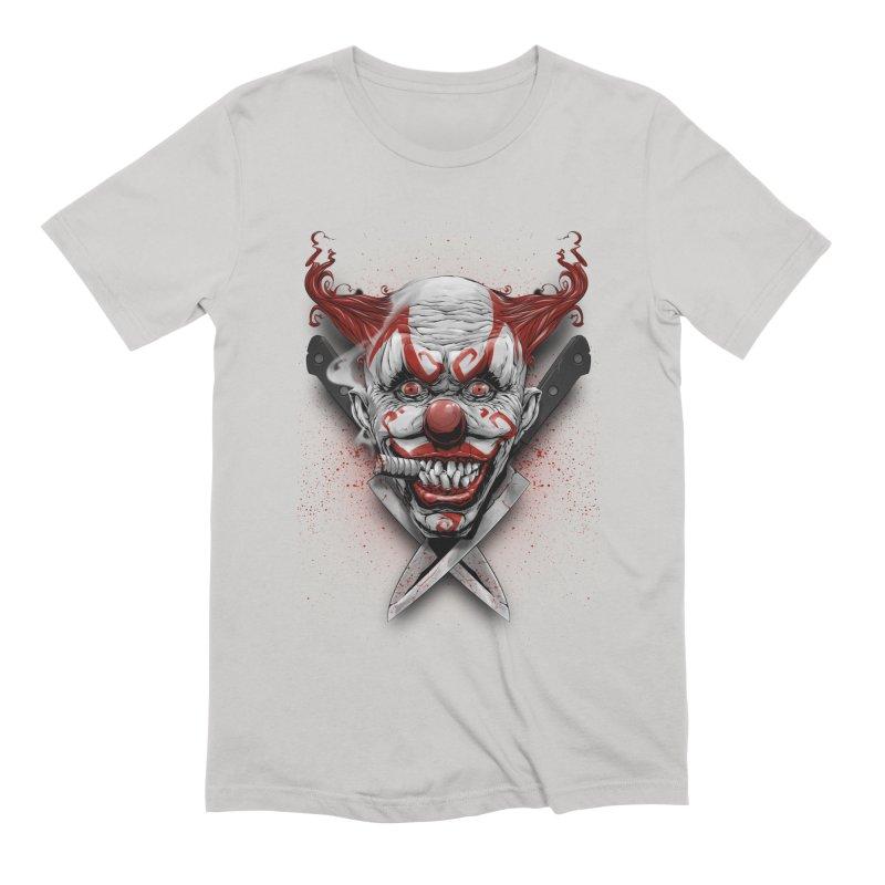 angry clown Men's Extra Soft T-Shirt by fishark's Artist Shop