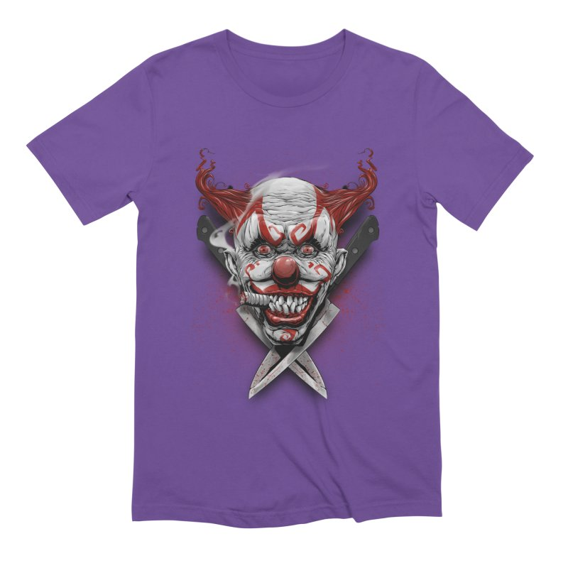 angry clown Men's Extra Soft T-Shirt by fishark's Artist Shop