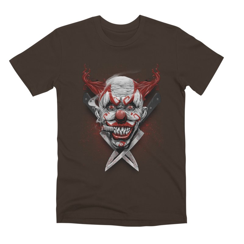 angry clown Men's Premium T-Shirt by fishark's Artist Shop