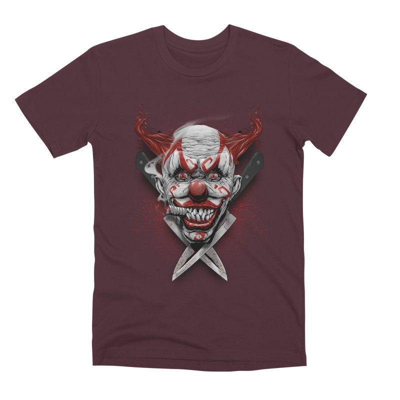 angry clown Men's Premium T-Shirt by fishark's Artist Shop