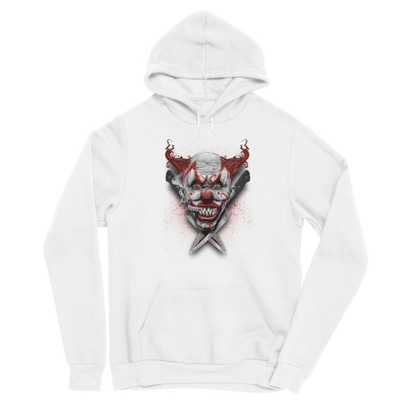 angry clown Men's Sponge Fleece Pullover Hoody by fishark's Artist Shop