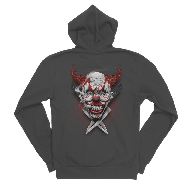 angry clown Men's Sponge Fleece Zip-Up Hoody by fishark's Artist Shop