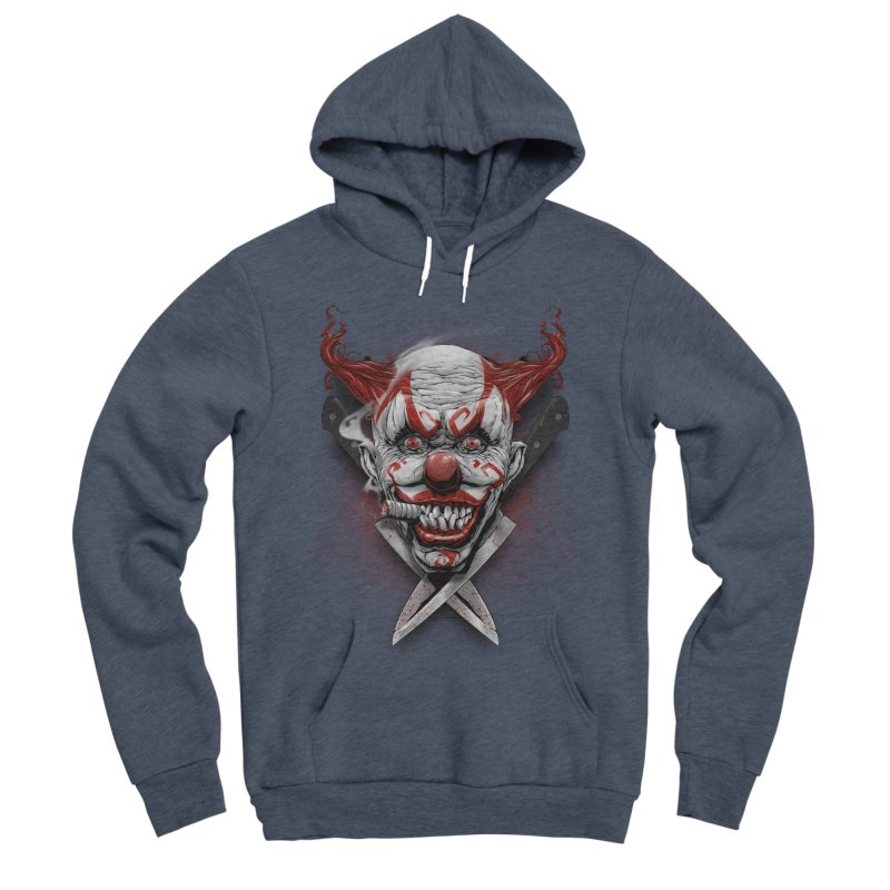 angry clown Women's Sponge Fleece Pullover Hoody by fishark's Artist Shop