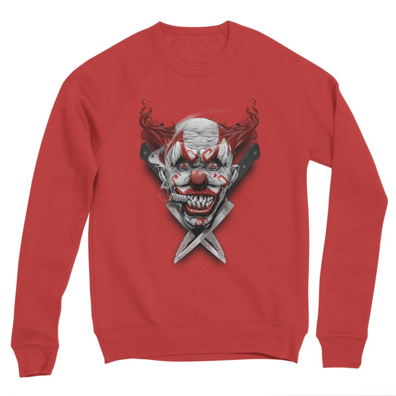 angry clown Women's Sponge Fleece Sweatshirt by fishark's Artist Shop