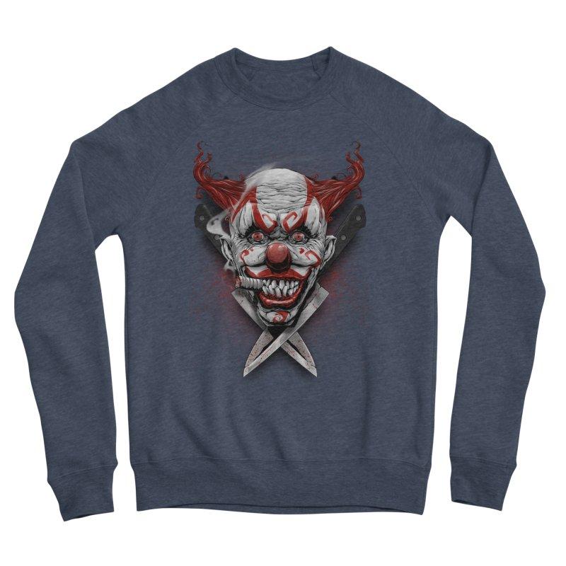angry clown Men's Sponge Fleece Sweatshirt by fishark's Artist Shop