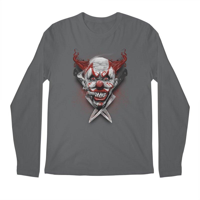 angry clown Men's Longsleeve T-Shirt by fishark's Artist Shop