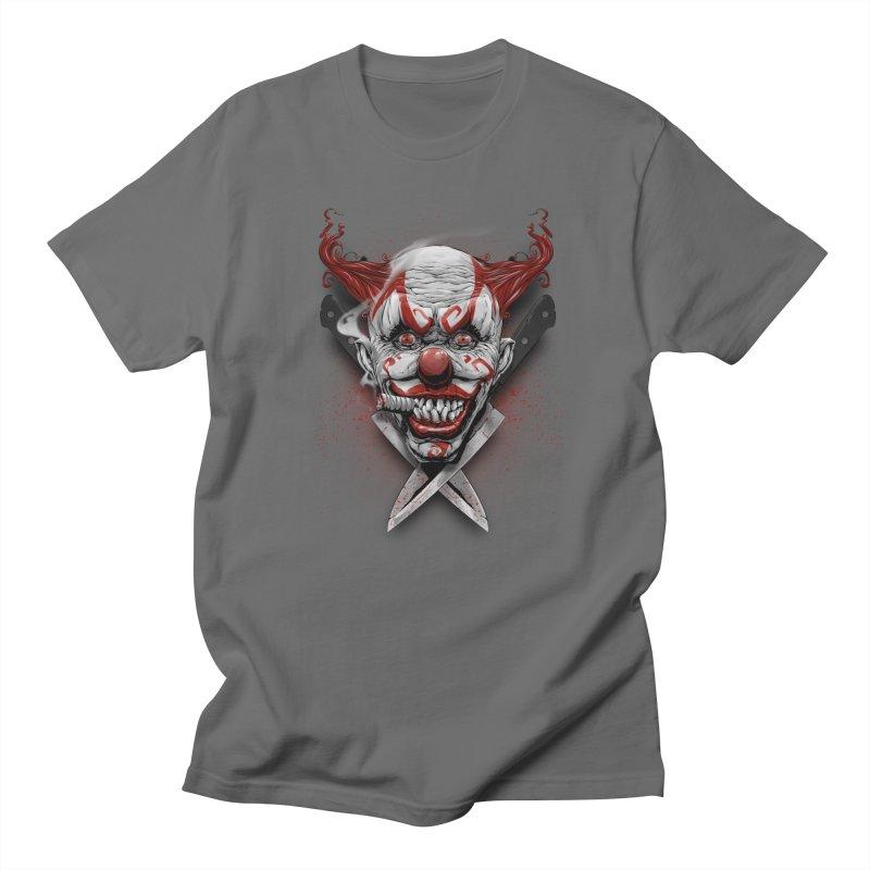 angry clown Men's T-Shirt by fishark's Artist Shop