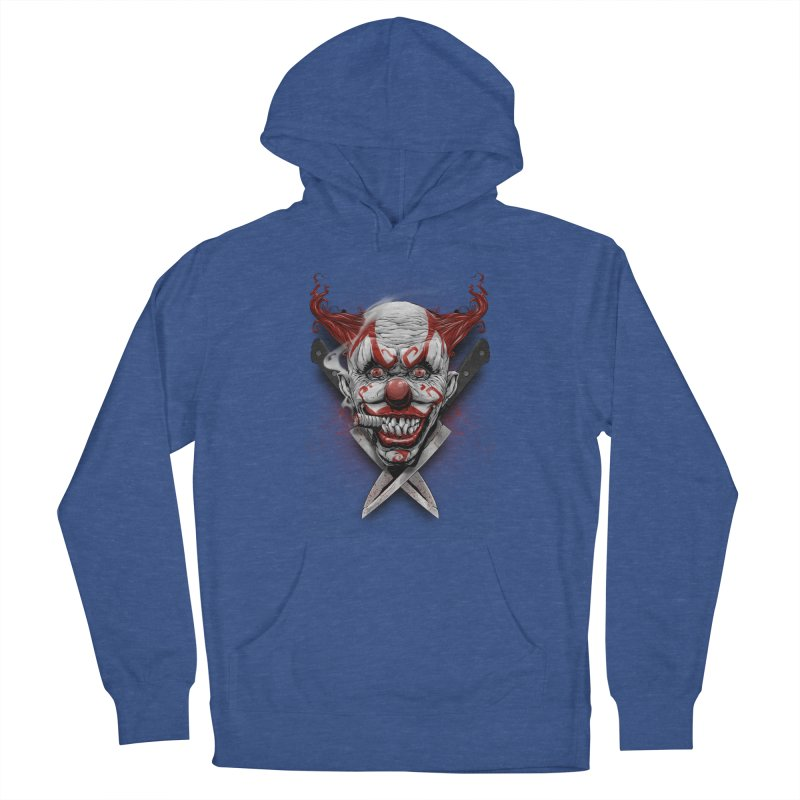 angry clown Men's French Terry Pullover Hoody by fishark's Artist Shop