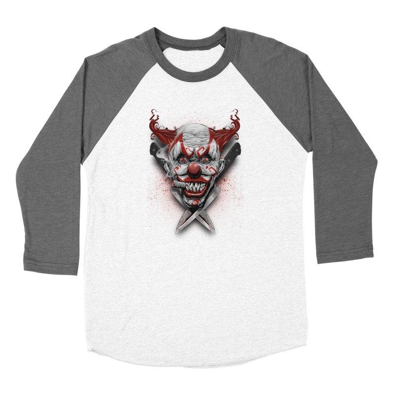 angry clown Women's Baseball Triblend Longsleeve T-Shirt by fishark's Artist Shop