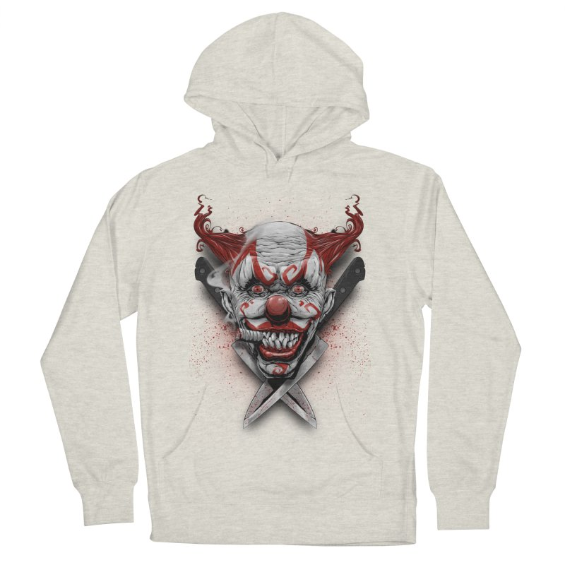 angry clown Women's French Terry Pullover Hoody by fishark's Artist Shop