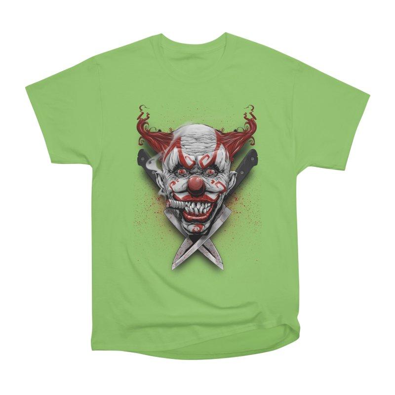 angry clown Men's Heavyweight T-Shirt by fishark's Artist Shop