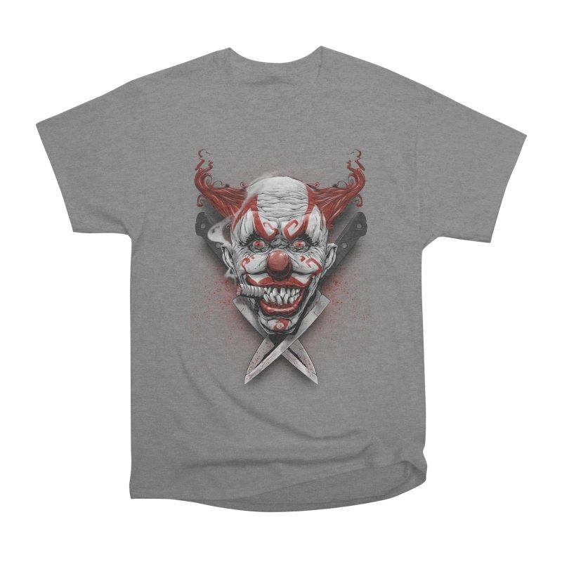 angry clown Women's Heavyweight Unisex T-Shirt by fishark's Artist Shop
