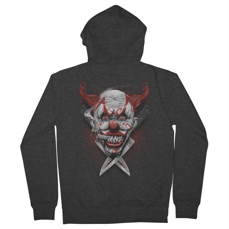 angry clown Men's French Terry Zip-Up Hoody by fishark's Artist Shop