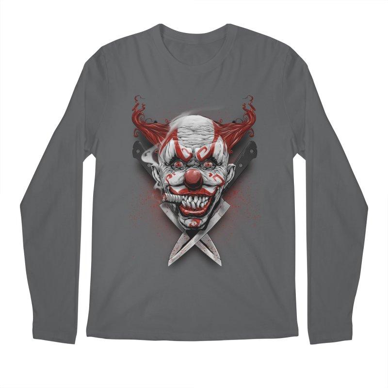 angry clown Men's Regular Longsleeve T-Shirt by fishark's Artist Shop