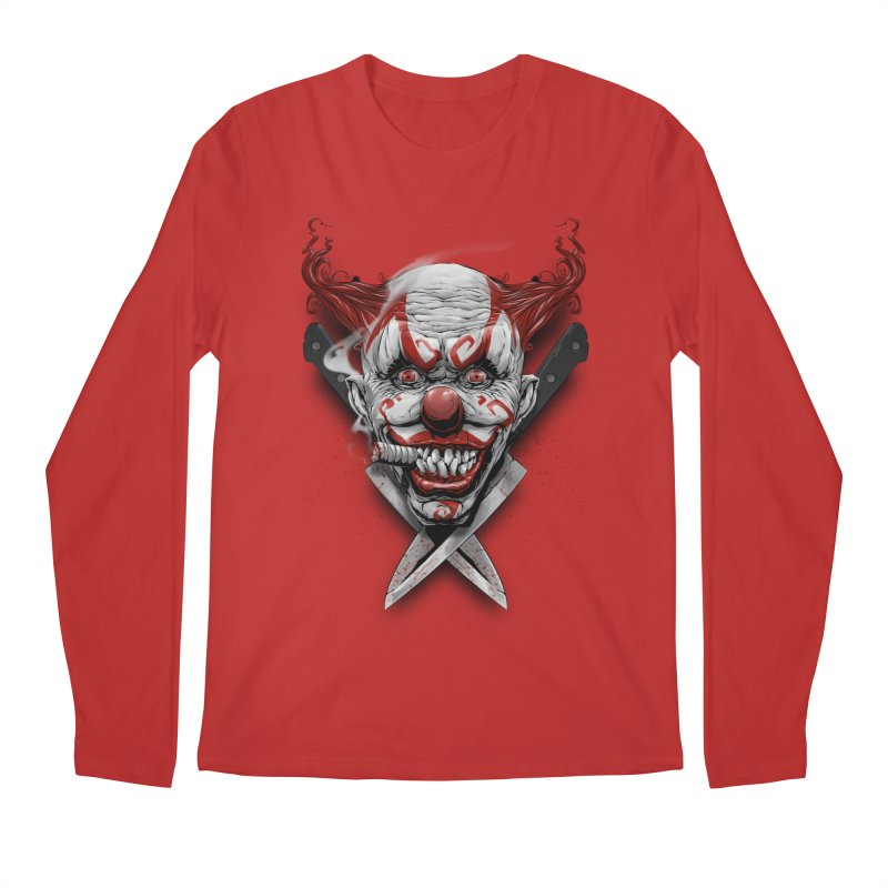 angry clown Men's Regular Longsleeve T-Shirt by fishark's Artist Shop