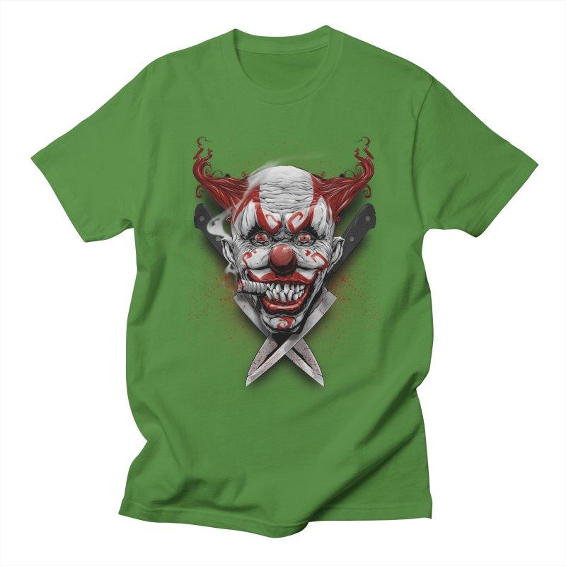 angry clown Men's Regular T-Shirt by fishark's Artist Shop