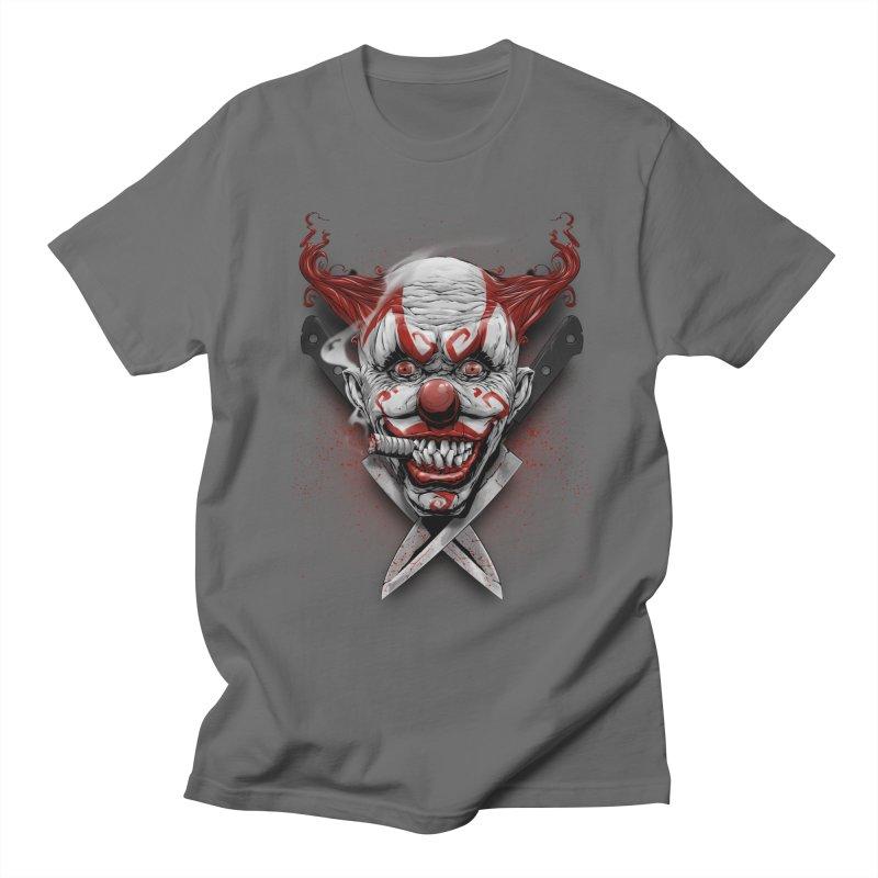 angry clown Women's T-Shirt by fishark's Artist Shop