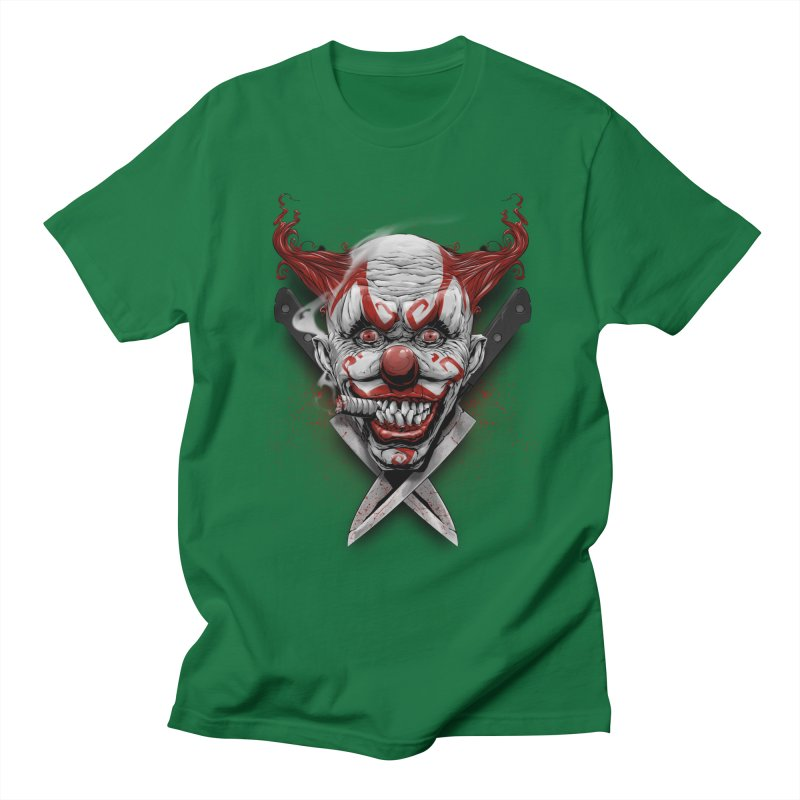 angry clown Women's Regular Unisex T-Shirt by fishark's Artist Shop