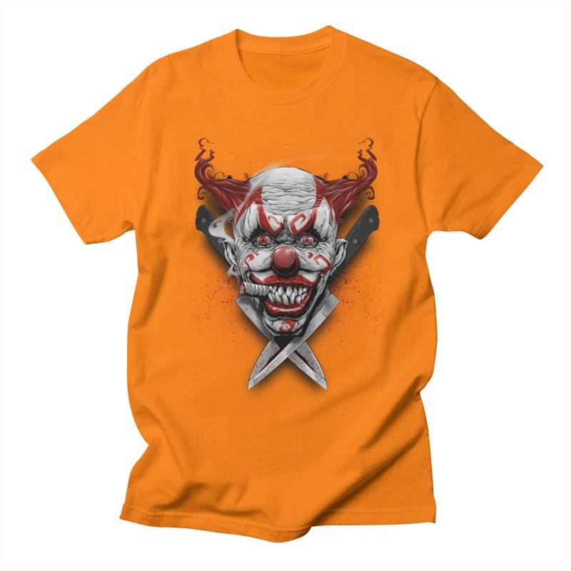angry clown Men's Regular T-Shirt by fishark's Artist Shop