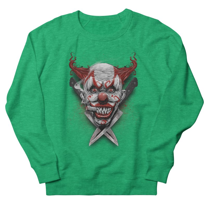 angry clown Women's French Terry Sweatshirt by fishark's Artist Shop
