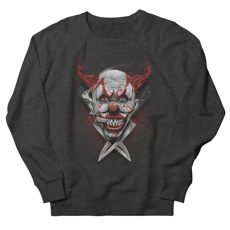 angry clown Men's French Terry Sweatshirt by fishark's Artist Shop