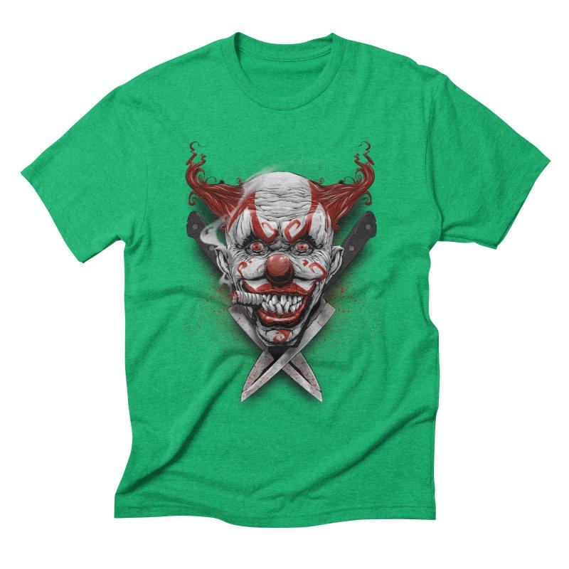 angry clown Men's Triblend T-Shirt by fishark's Artist Shop