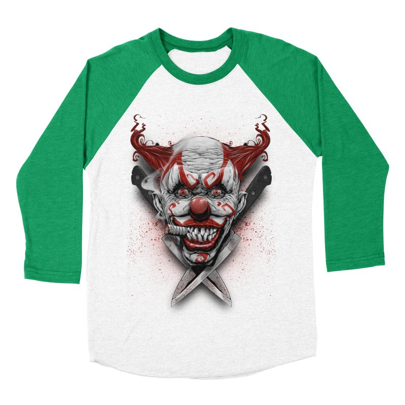 angry clown Men's Baseball Triblend Longsleeve T-Shirt by fishark's Artist Shop