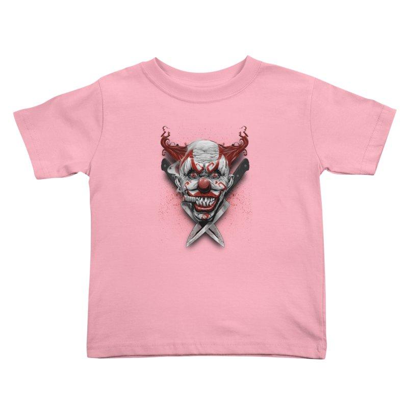 angry clown Kids Toddler T-Shirt by fishark's Artist Shop