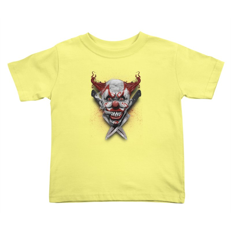angry clown Kids Toddler T-Shirt by fishark's Artist Shop