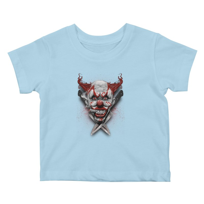 angry clown Kids Baby T-Shirt by fishark's Artist Shop