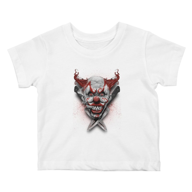 angry clown Kids Baby T-Shirt by fishark's Artist Shop