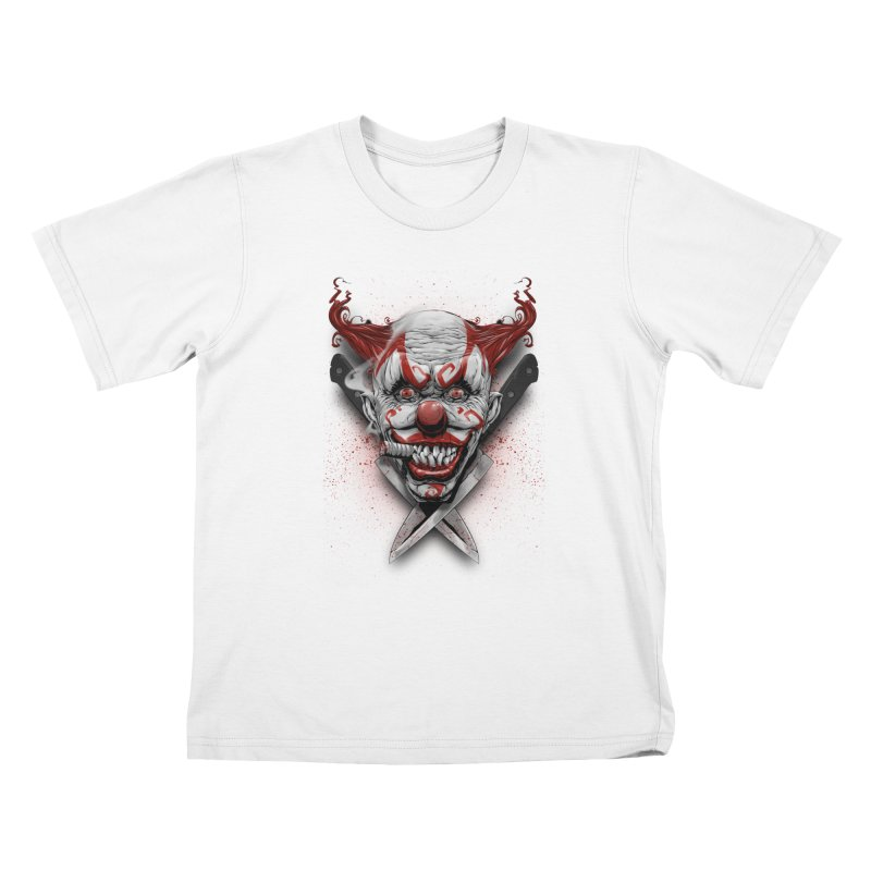 angry clown Kids T-Shirt by fishark's Artist Shop