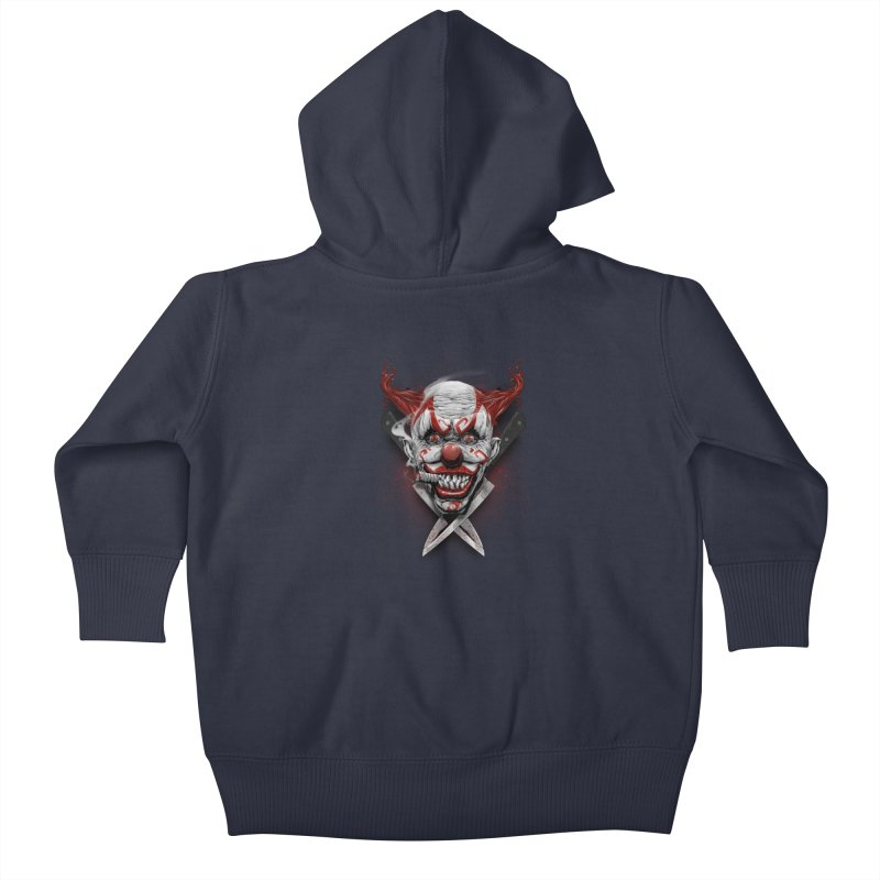 angry clown Kids Baby Zip-Up Hoody by fishark's Artist Shop