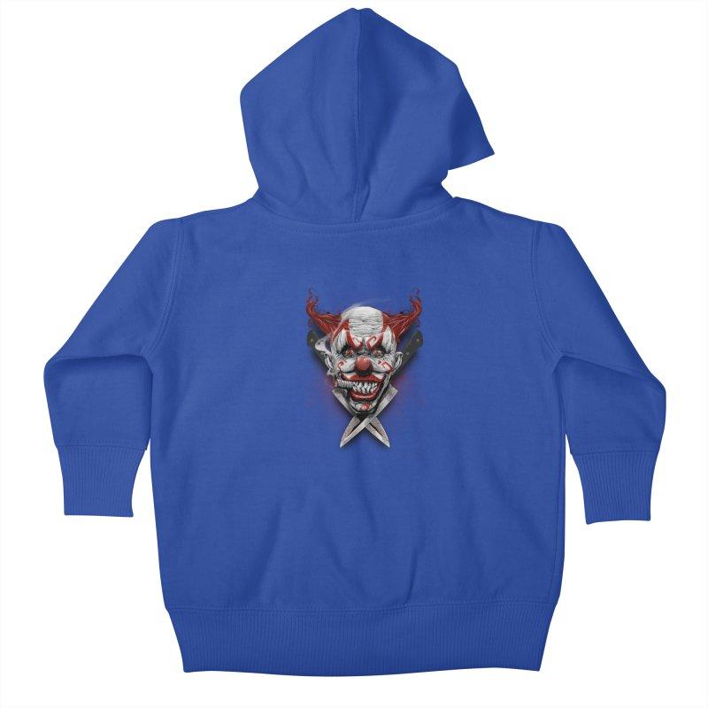 angry clown Kids Baby Zip-Up Hoody by fishark's Artist Shop