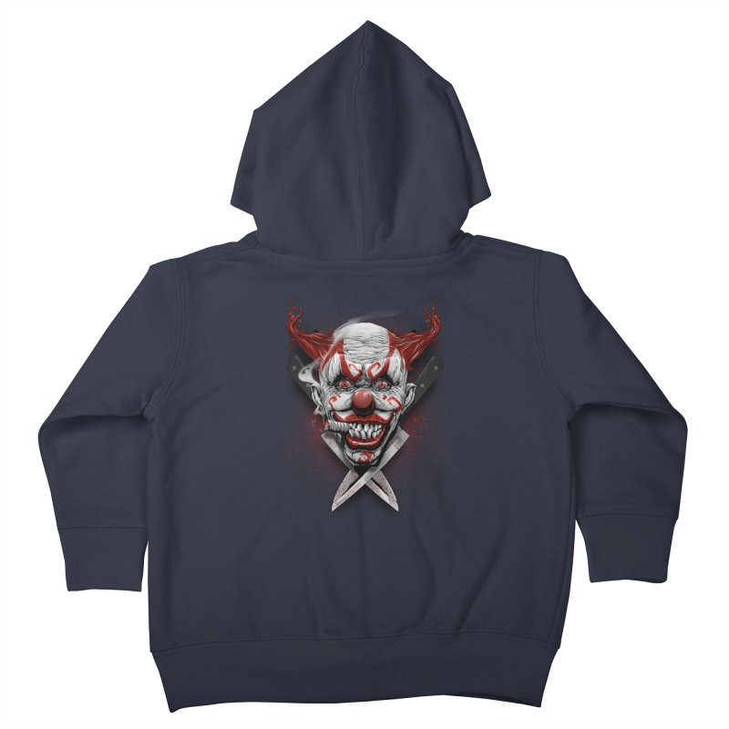 angry clown Kids Toddler Zip-Up Hoody by fishark's Artist Shop