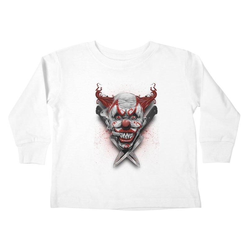 angry clown Kids Toddler Longsleeve T-Shirt by fishark's Artist Shop