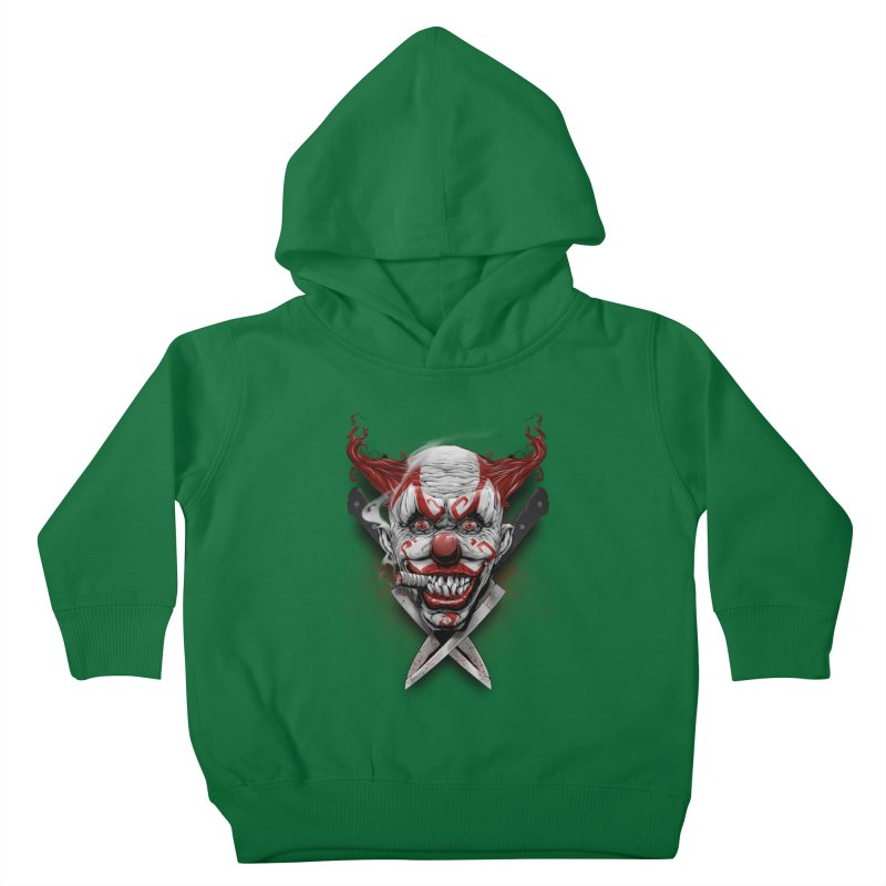 angry clown Kids Toddler Pullover Hoody by fishark's Artist Shop