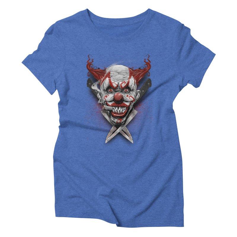 angry clown Women's Triblend T-Shirt by fishark's Artist Shop