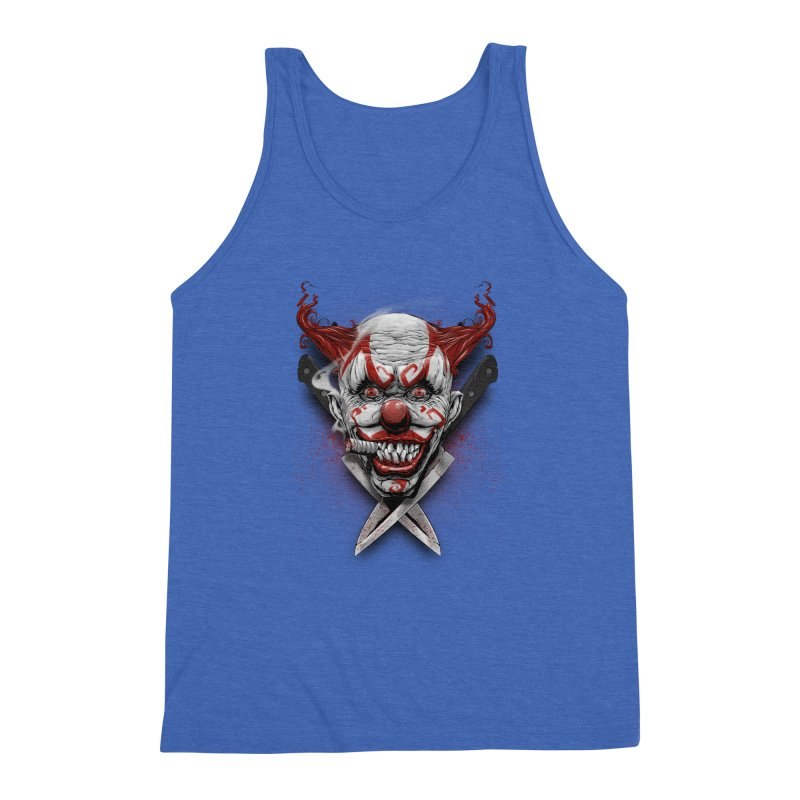 angry clown Men's Triblend Tank by fishark's Artist Shop
