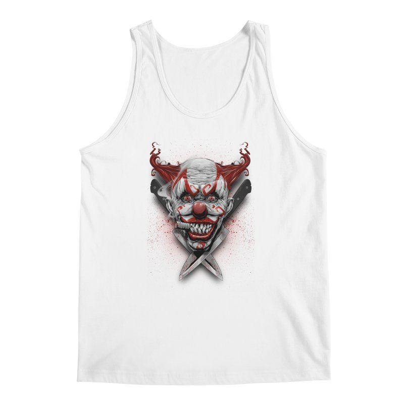 angry clown Men's Regular Tank by fishark's Artist Shop